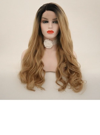 Loose Golvende Synthetische Lace Front Pruiken 340g