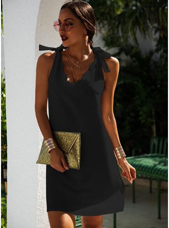 Solid Shift Sleeveless Mini Little Black Casual Vacation Tank Dresses