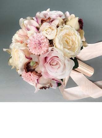 Sencillas y elegantes Redondo Flores de seda Ramos de novia (vendido en una sola pieza) -