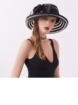 Ladies' Classic/Elegant/Simple Satin With Flower Beach/Sun Hats/Tea Party Hats