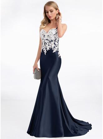 Trumpet/Mermaid Sweetheart Sweep Train Evening Dress