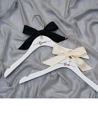 Braut-Geschenke - Würdevoll Sus Holz Seide Faux-Pperlen Aufhänger (Set von 2)