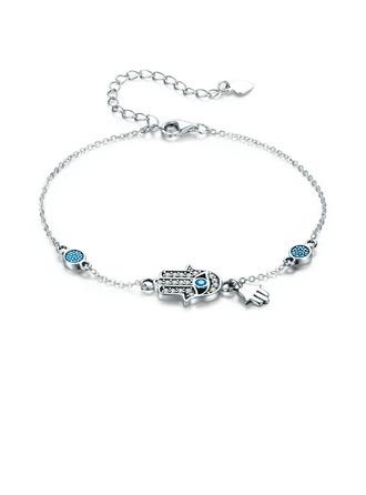 Geplatineerd Armbandverlenger Fijne ketting Bedelarmbanden - Valentijnsgeschenken Voor Haar