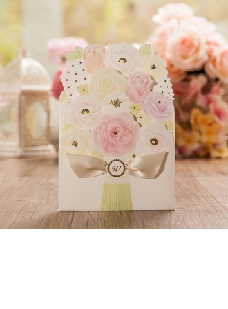 Stile Floreale Wrap & Pocket Invitation Cards con Archi (Set di 50)