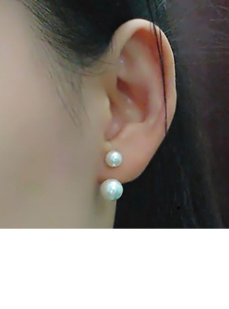 Elegant Alloy/Imitation Pearls Ladies' Earrings