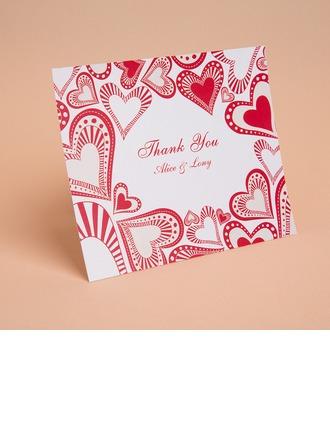 Personlig Hjärta stil Tackkort (Sats om 50)
