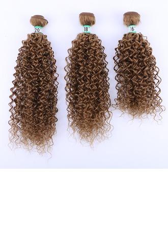 Frisé cheveux synthétiques Tissage en cheveux humains (Vendu en une seule pièce) 70g