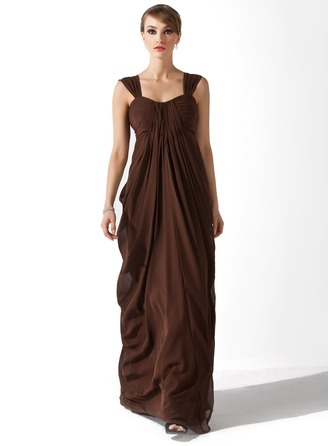Empire Sweetheart Floor-Length Chiffon Mother of the Bride Dress With Ruffle