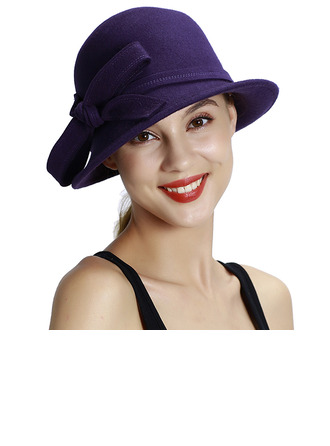 Sonar Naisten Loistokkaat/Classic/Yksinkertainen Villa jossa Bowknot Keilaaja / Clochen hattu