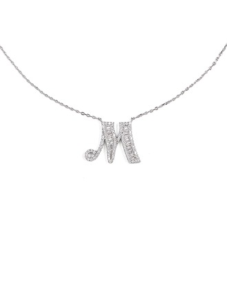 Custom Silver Initial Letter Initial Necklace - Christmas Gifts