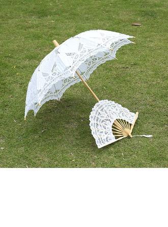 Spets Bröllops Paraplyer