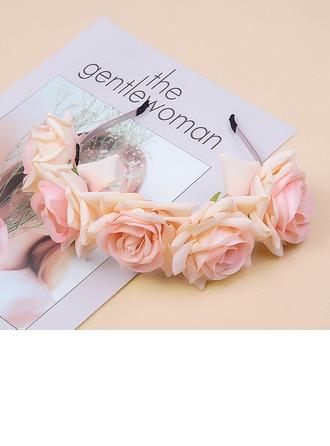 Bayan Güzel Flanel taklidi pamuklu kumaş Headbands (Tek parça Satılan)