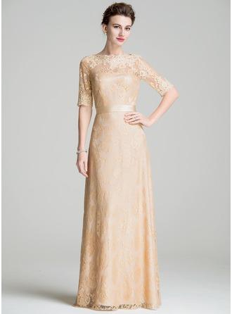 Vestidos princesa/ Formato A Decote redondo Longos Renda Vestido para a mãe da noiva