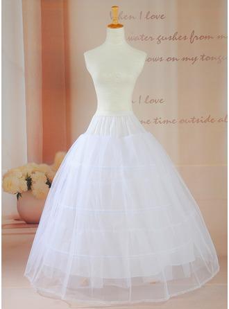 Women Taffeta Floor-length 2 Tiers Petticoats