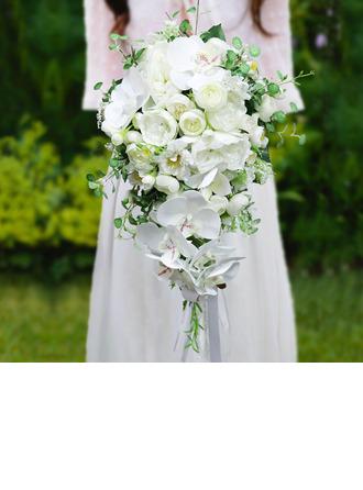Pretty Cascade Silk Flower Bridal Bouquets - Bridal Bouquets