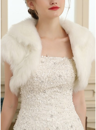 Artificial Wool Wedding Wrap