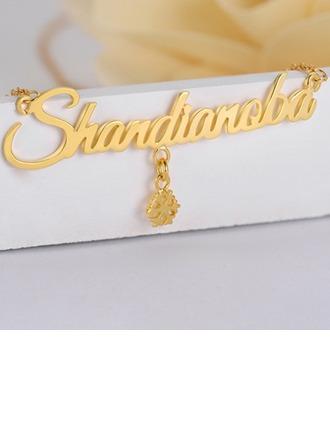 Individualisiert Damen heißeste Vergoldet Name Halsketten Freunde/Braut