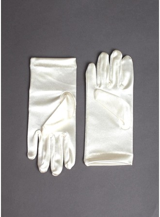Elastisk Satin Wrist Længde Flower Girl Handsker