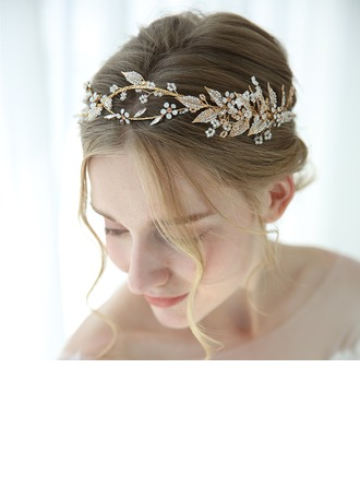 Classic Alloy Tiaras With Rhinestone (Sold in single piece)