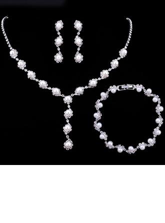 Alloy/Rhinestones/Imitation Pearls Ladies' Jewelry Sets