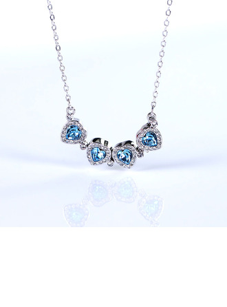 Ladies' Unique Alloy Rhinestone/Austrian Crystal Necklaces For Friends