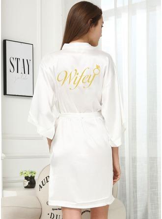 Personaliseret charmeuse Brud Glitter Print Robes