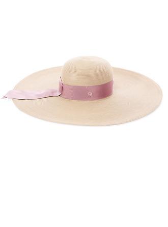 Senhoras Simples/Mais quente Poliéster/Rattan de palha Chapéu de palha/Chapéus praia / sol/Kentucky Derby Bonés