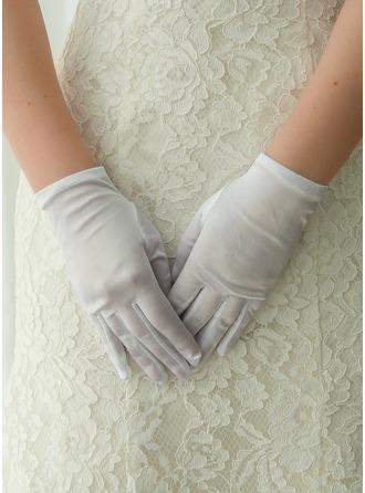 Атлас Наручные длина Свадебные перчатки