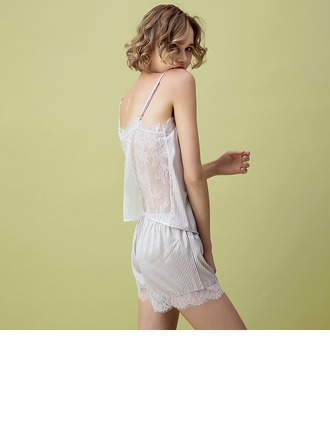 Satiini Morsius/Naisellinen Sleepwear setit