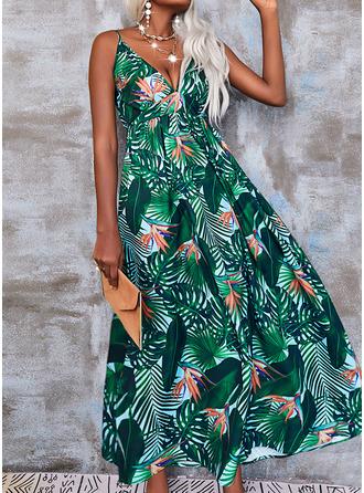 Print A-lijn-jurk Mouwloos Maximum Casual schaatser Typ ()