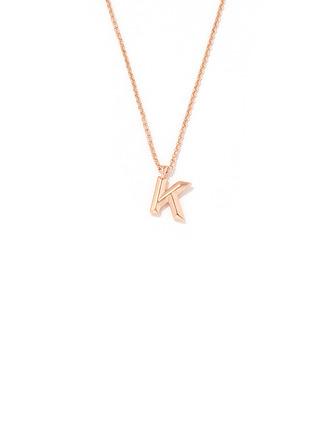 Невеста Подарки - Персонализированные простой нежный медь Инициал Ожерелье