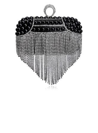 Élégante Cristal / Strass/Perle d'imitation Pochettes/Poignée supérieure