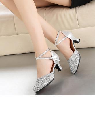 De mujer Cuero Brillo Chispeante Tacones Estilo Moderno Zapatos de danza