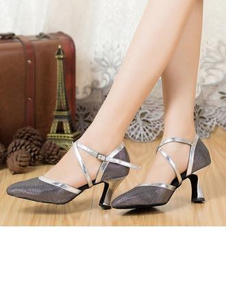 De mujer Brillo Chispeante Sandalias Estilo Moderno Salsa Fiesta Tango con Tira de tobillo Zapatos de danza