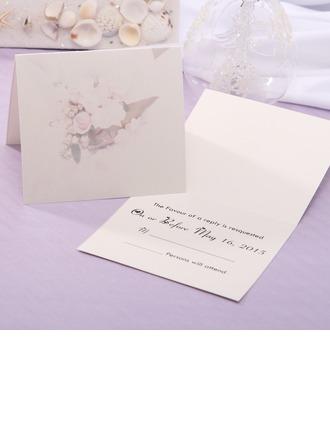 Personlig Blommig Stil Top Vik Svarskort (Set om 20)