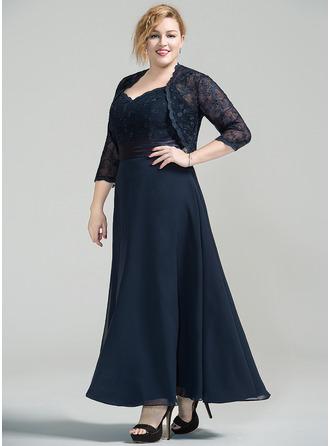 Vestidos princesa/ Formato A Amada Longuete Tecido de seda Renda Vestido para a mãe da noiva