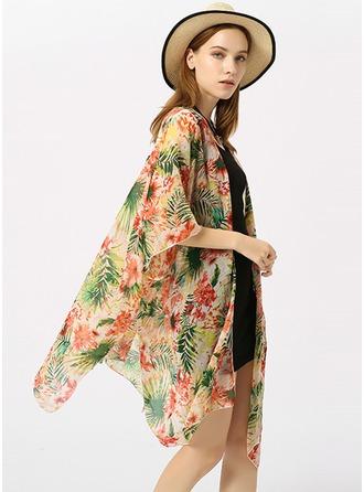 Bloemen lichtgewicht/mode/eenvoudig Polyester Strandponcho