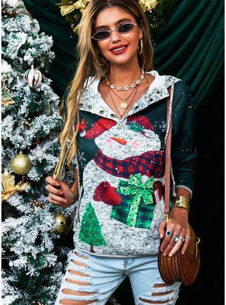 Stampa Maniche lunghe Felpa natalizia