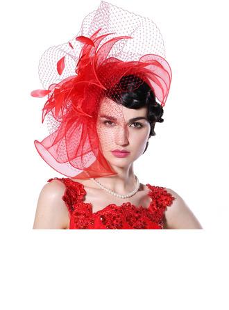 Dames Spécial/Glamour/Exquis Organza avec Feather/Tulle Chapeaux de type fascinator/Kentucky Derby Des Chapeaux/Chapeaux Tea Party