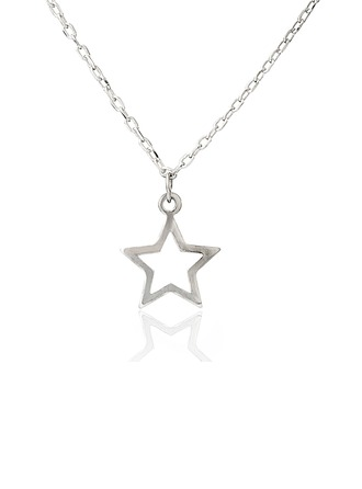 Sterling Silver Star Charm Necklace With Star