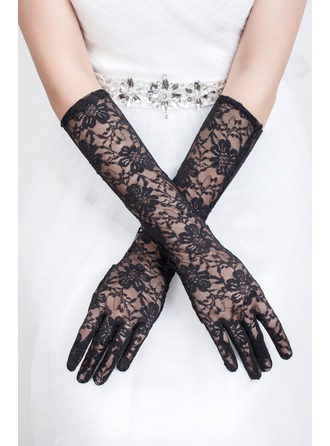 Tulle Elbow Length Bridal Gloves