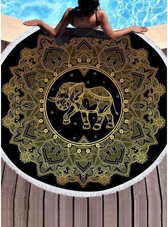 Retro /Vendimia/Elefante de gran tamaño toalla de playa