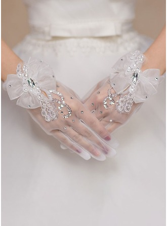 Polyester Wrist Length Bridal Gloves