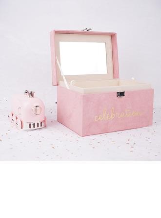 Невеста Подарки - простой нежный бархат Шкатулка Подарочная коробка / сумка
