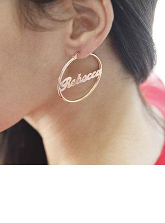 Individualisiert Damen Einzigartig Edelstahl Namensohrringe Ohrringe Freunde/Brautjungfern/Für Sie