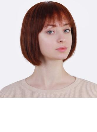 Kinky Straight Blend di capelli umani Parrucche dei capelli umani 120g