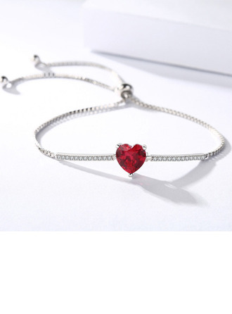 Anti-oxidation Link & Chain Bridesmaid Bracelets Bolo Bracelets With Heart -