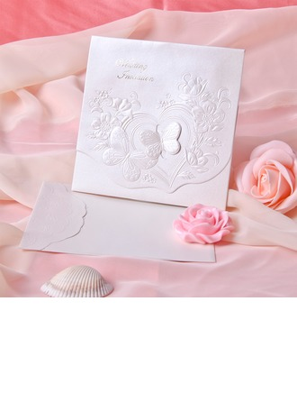 Schmetterling Stil Tri-Fold Invitation Cards (Satz 10)