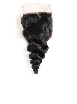 "4""*4"" 4A Non remy Loose Human Hair Closure (Sold in a single piece) 40g"