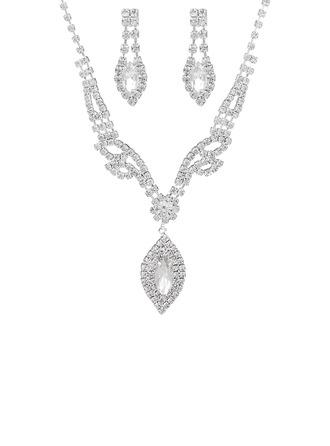 Senhoras Chic Strass com Marquesa Conjuntos de jóias